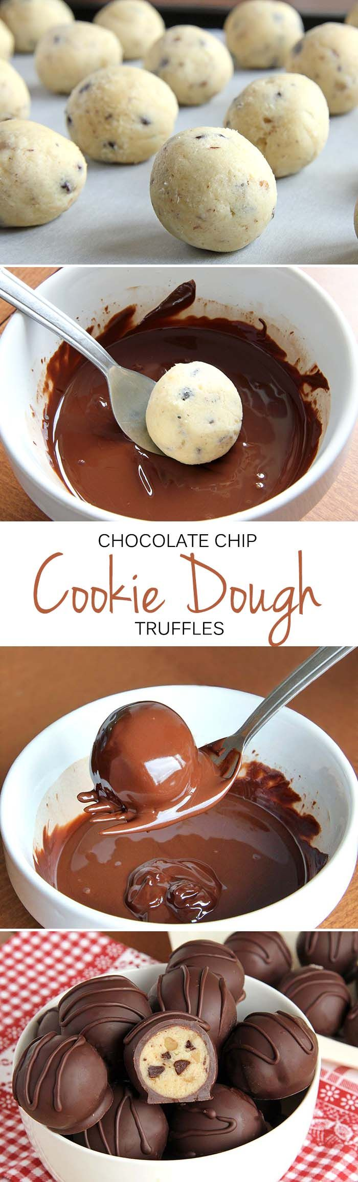 Chocolate Chip Cookie Dough Truffle